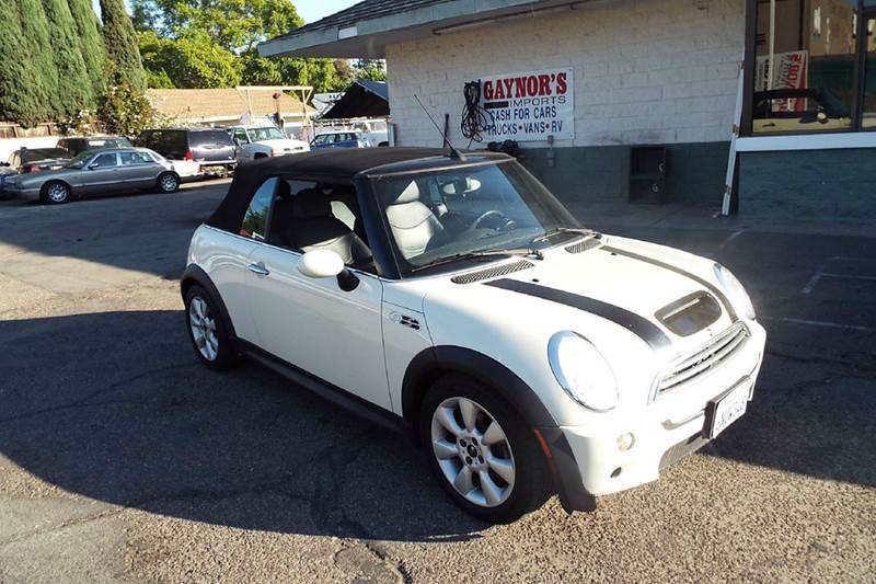 2006 MINI COOPER S 2DR CONVERTIBLE white this is a nice little low mile mini cooper s that was pr