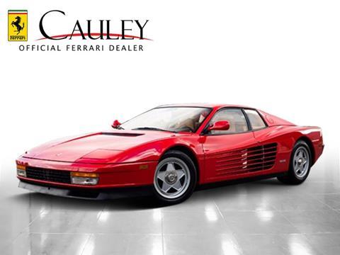 1988 Ferrari Testarossa For Sale Carsforsale
