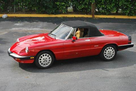 Alfa Romeo Spider For Sale In Downingtown PA Carsforsalecom - 1989 alfa romeo spider