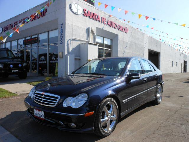 2006 MERCEDES-BENZ C-CLASS C230 SPORT SEDAN blue the electronic components on this vehicle are in