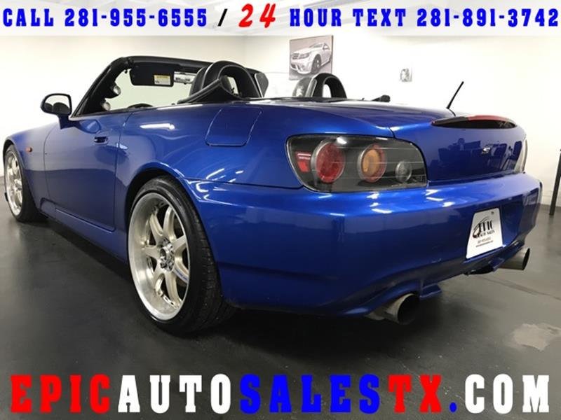 2007 Honda S2000 2dr Convertible In Cypress Tx Epic Auto Sales