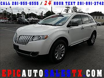 2013 Lincoln MKX for sale in Cypress, TX
