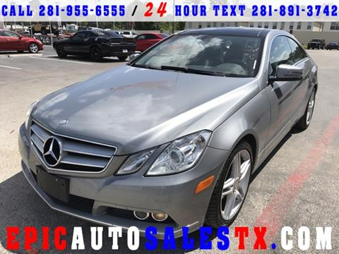 2011 Mercedes-Benz E-Class for sale in Cypress, TX