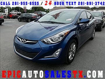 2014 Hyundai Elantra for sale in Cypress, TX