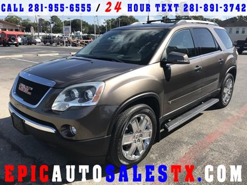 2010 GMC Acadia for sale in Cypress, TX