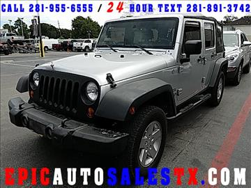 2010 Jeep Wrangler Unlimited for sale in Cypress, TX