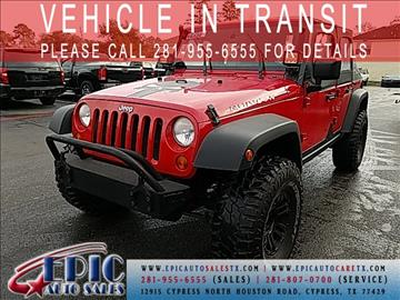 2008 Jeep Wrangler Unlimited for sale in Cypress, TX