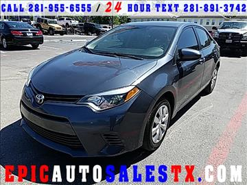 2015 Toyota Corolla for sale in Cypress, TX