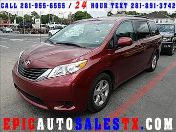 2014 Toyota Sienna for sale in Cypress, TX