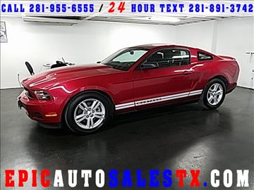 2012 Ford Mustang for sale in Cypress, TX