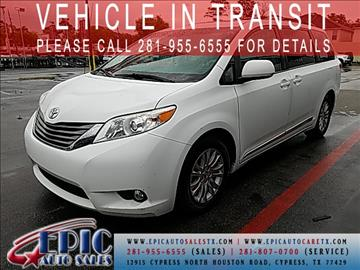 2011 Toyota Sienna for sale in Cypress, TX