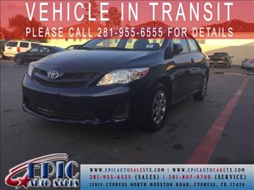 2013 Toyota Corolla for sale in Cypress, TX