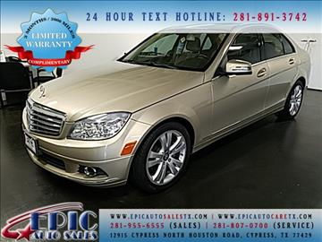 2010 Mercedes-Benz C-Class for sale in Cypress, TX