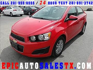 2016 Chevrolet Sonic for sale in Cypress, TX