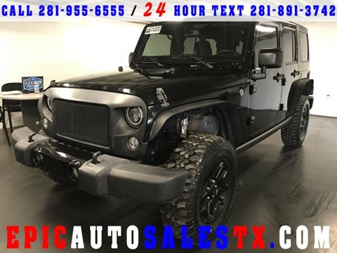 2016 Jeep Wrangler Unlimited for sale in Cypress, TX