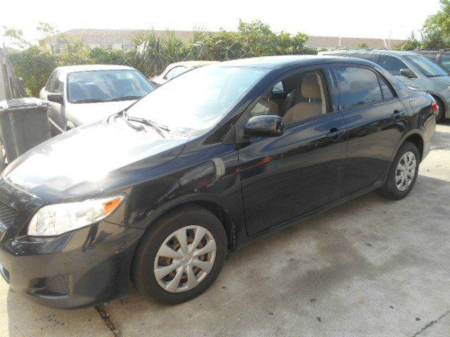 2010 TOYOTA COROLLA LE 4DR SEDAN 4A black 2-stage unlocking doors abs - 4-wheel active head res