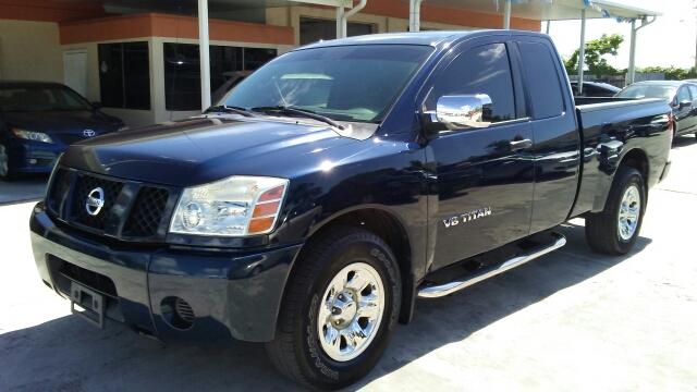 2007 NISSAN TITAN LE FFV 4DR KING CAB SB blue 2-stage unlocking doors abs - 4-wheel active head