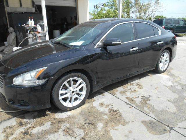 2009 NISSAN MAXIMA 35 SV 4DR SEDAN black 2-stage unlocking doors abs - 4-wheel active head rest