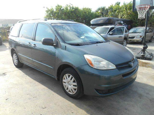 2005 TOYOTA SIENNA CE 7 PASSENGER 4DR MINI VAN green abs - 4-wheel cassette clock front air co