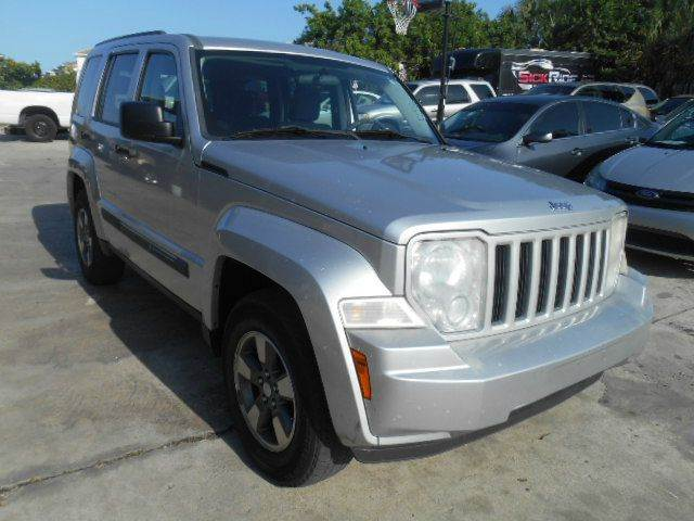 2008 JEEP LIBERTY SPORT 4X4 4DR SUV silver 2-stage unlocking doors 4wd type - part time abs - 4