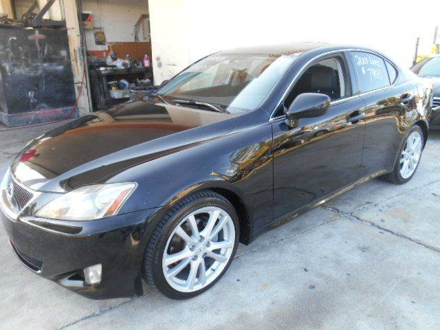 2007 LEXUS IS 250 BASE 4DR SEDAN 25L V6 6A black 2-stage unlocking doors abs - 4-wheel air f