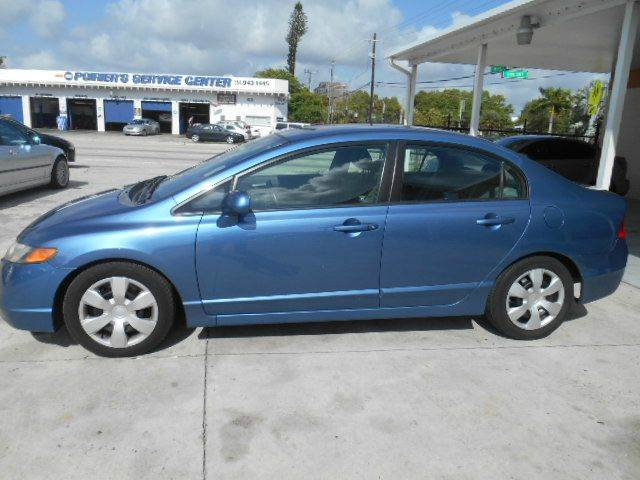 2008 HONDA CIVIC LX 4DR SEDAN 5A blue abs - 4-wheel active head restraints - dual front air fil
