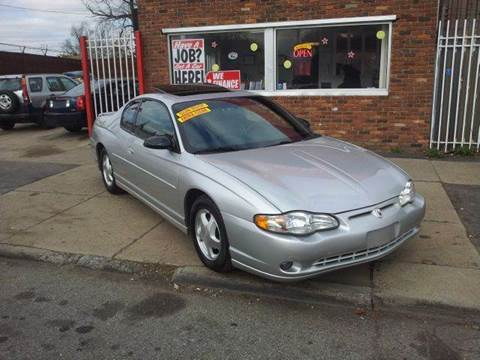 2001 Chevrolet Monte Carlo for sale in Detroit, MI