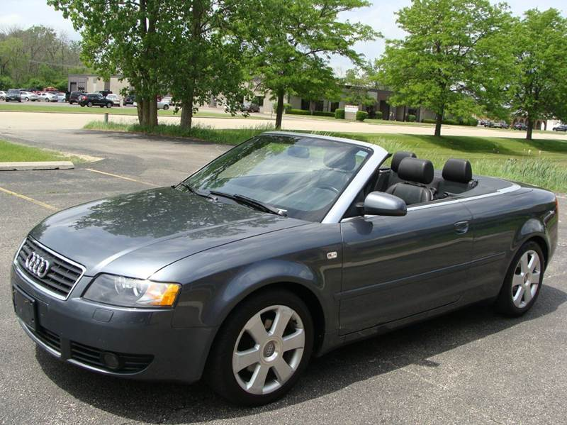 2004 audi a4 2dr 1 8t turbo cabriolet in mundelein il m a prestige line of mundelein inc. Black Bedroom Furniture Sets. Home Design Ideas