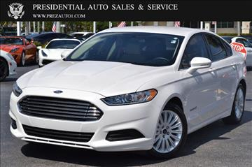 2016 Ford Fusion Hybrid for sale in Delray Beach, FL