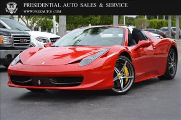 2014 Ferrari 458 Spider for sale in Delray Beach, FL