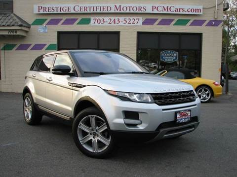 2013 Land Rover Range Rover Evoque for sale in Falls Church, VA
