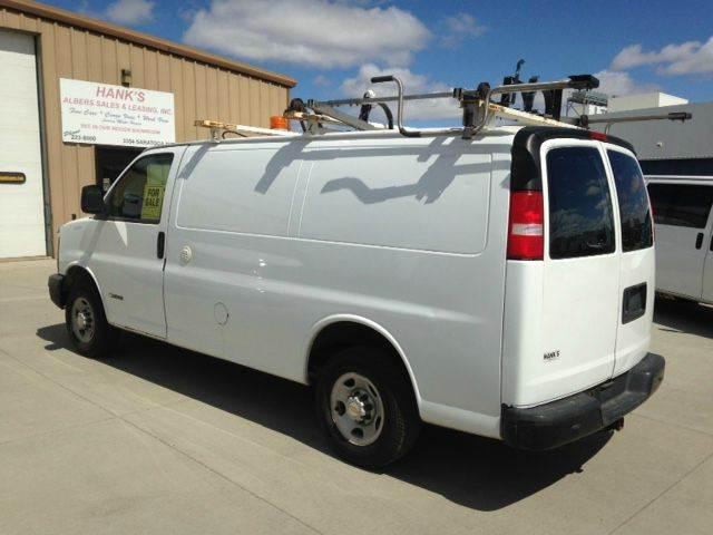 2005 Cargo Van Chevy Contractors Pkg St#5483
