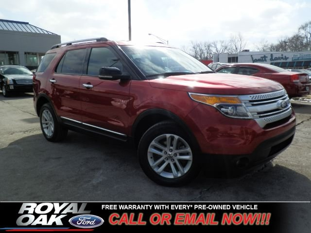 2011 FORD EXPLORER XLT 4WD red ford certified pre-owned warranty nicely equipped xlt with clot