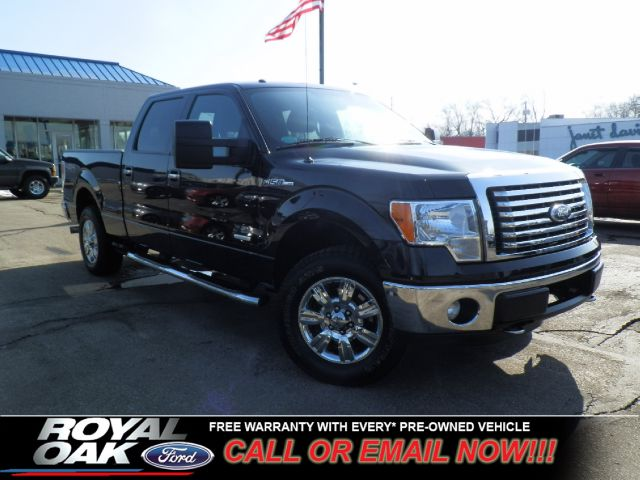 2012 FORD F150 XLT SUPERCREW 55-FT BED 4WD tuxedo black metallic ford certified pre-owned warran