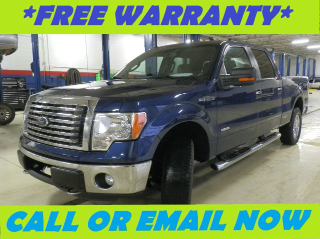 2011 FORD F150 XLT SUPERCREW 55-FT BED 4WD blue free royal shield warranty nicely equipped x