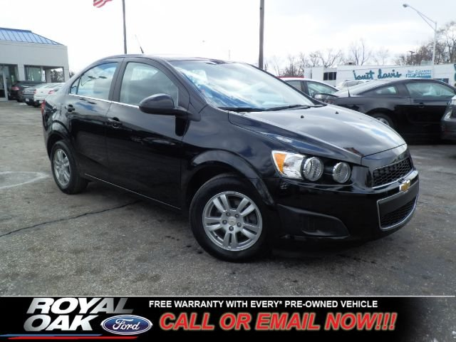 2012 CHEVROLET SONIC 2LT SEDAN black remaining factory warranty nicely equipped sonic with clo