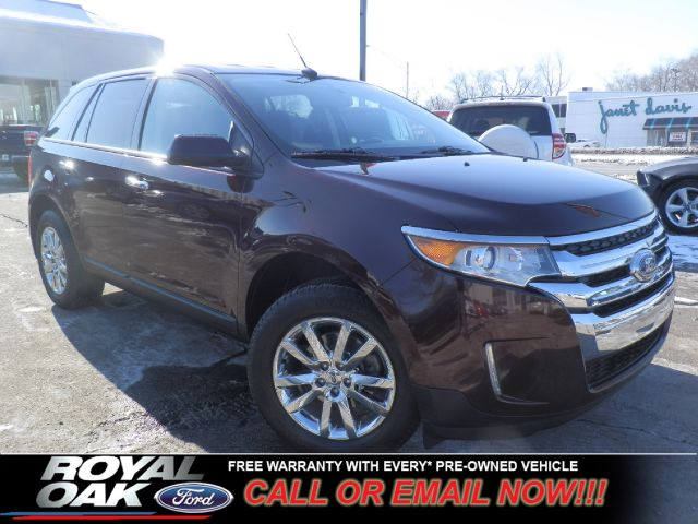 2011 FORD EDGE SEL FWD burgandy remaining factory warranty nicely equipped with myford touch