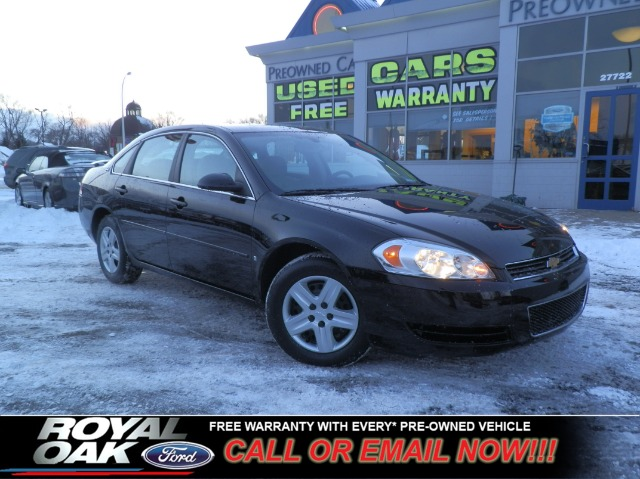 2008 CHEVROLET IMPALA LS black free royal shield warranty ls equipped with cloth interior cd