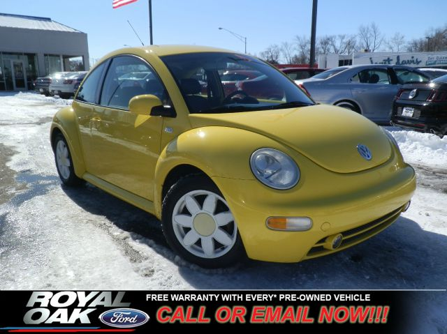2002 VOLKSWAGEN NEW BEETLE GLS 20 yellow as-is black leather low miles auto transmission flo