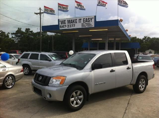 2011 NISSAN TITAN 2WD CREW CAB SWB S silver driver air bag passenger air bag front side air bag