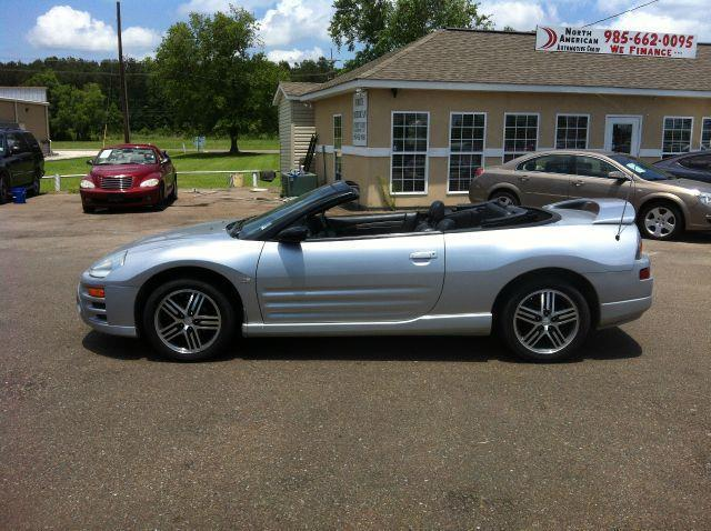 2003 MITSUBISHI ECLIPSE SPYDER GTS 30L MANUAL silver driver air bag passenger air bag front sid