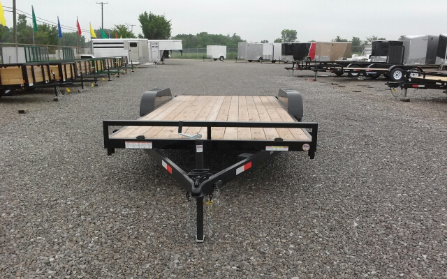 2014 Sure-Trac 18' Wood Deck Car Hauler