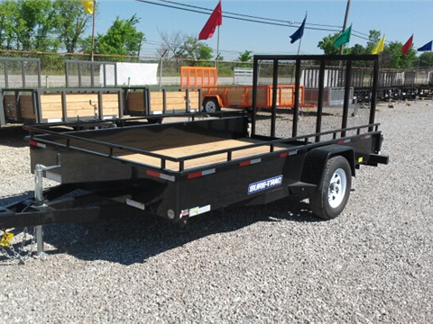 2016 Sure-Trac 7 x 12 Steel Side Utility