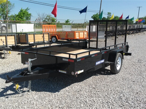 2016 Sure-Trac 6 x 12 Steel Side Utility