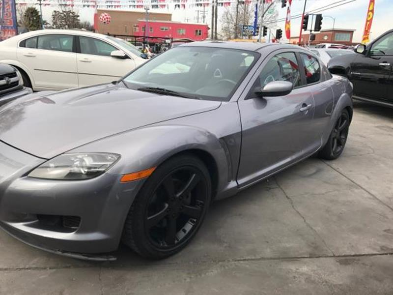 2004 MAZDA RX-8 BASE 4DR COUPE gray this is a beautiful 2004 mazda rx-8 2 door coupe 2rtr 13l