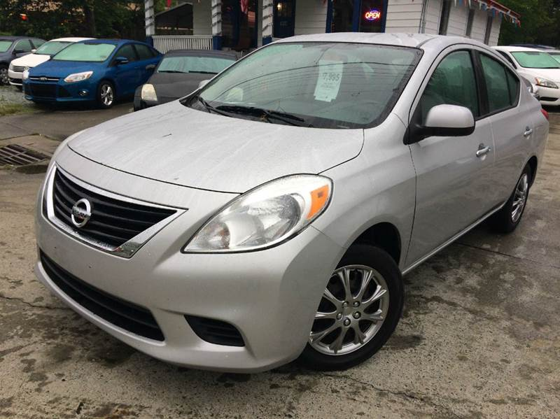 2012 nissan versa 1 6 sv 4dr sedan in durham nc carolina pre owned autos inc. Black Bedroom Furniture Sets. Home Design Ideas