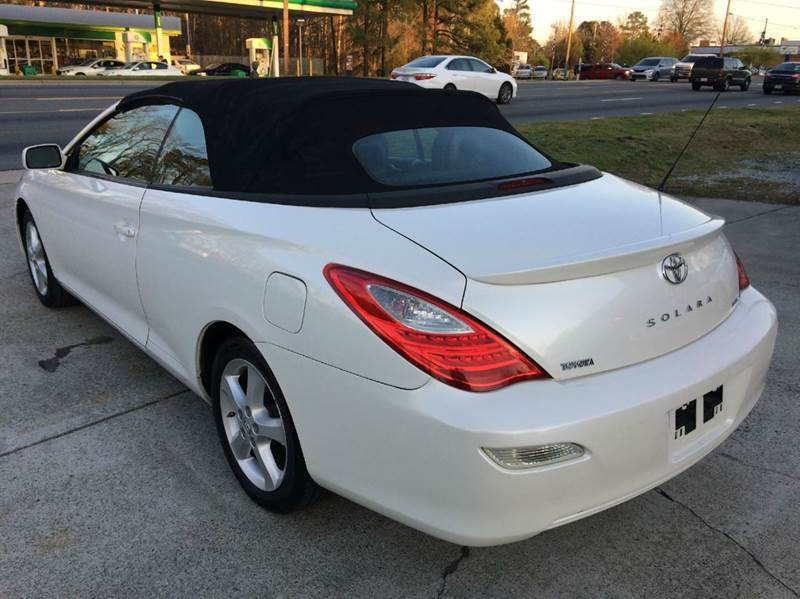 2007 toyota camry solara sle v6 2dr convertible in durham nc carolina pre owned autos inc. Black Bedroom Furniture Sets. Home Design Ideas
