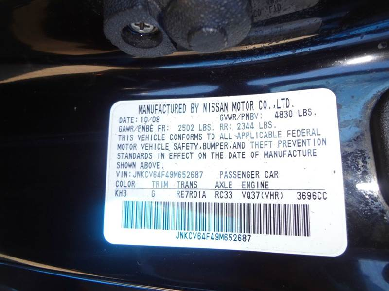 2009 Infiniti G37 Coupe x AWD 2dr Coupe - Denver CO