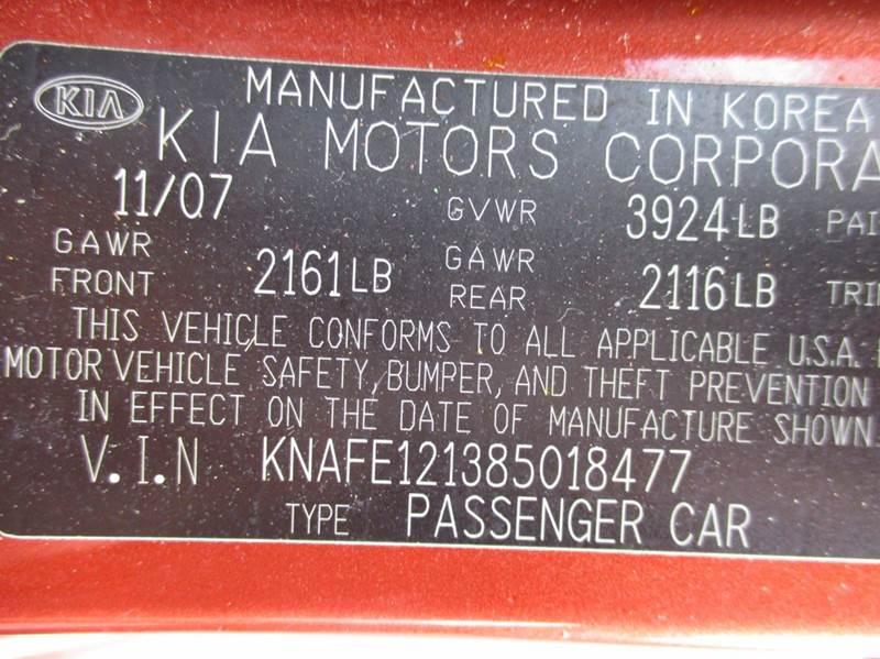 2008 Kia Spectra EX 4dr Sedan (2L I4 4A) - Seattle WA