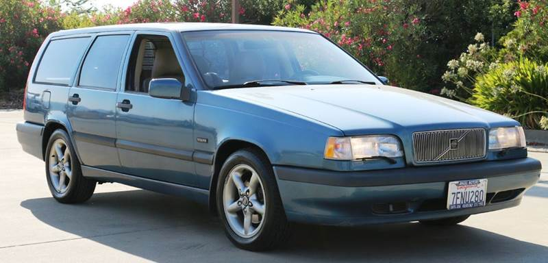 1997 VOLVO 850 T5 TURBO 4DR WAGON blue abs - 4-wheel anti-theft system - alarm cassette cruise